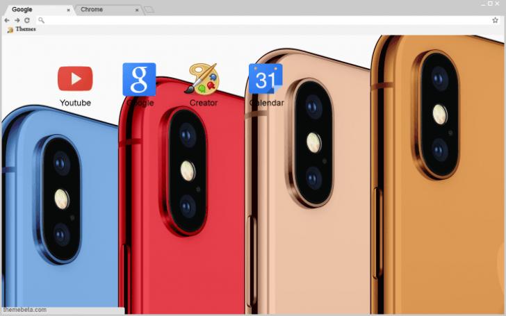 iPhone x theme Chrome Theme - ThemeBeta