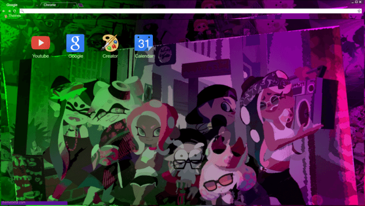 splatoon 2 1st anniversary chrome theme themebeta