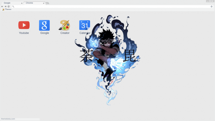 My Hero Academia Dabi Simple Wallpaper Chrome Theme