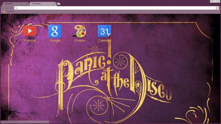 Panic At The Disco Wallpaper Chrome Theme