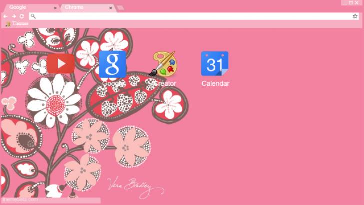 Vera bradley pink spring flowers chrome theme themebeta vera bradley pink spring flowers mightylinksfo