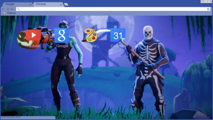 1080P FREE FORTNITE Skull & Ghoul trooper skull Chrome THEME