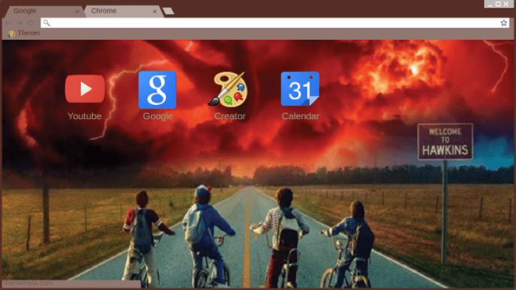 Stranger things hawkins wallpaper Chrome Theme - ThemeBeta