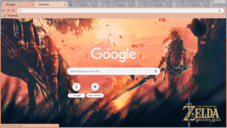 Legend Of Zelda Breath Of The Wild Wallpaper Extension Chrome Theme