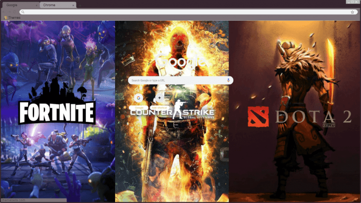 Gaming Network - Fortnite // CSGO // Dota 2 Chrome Theme