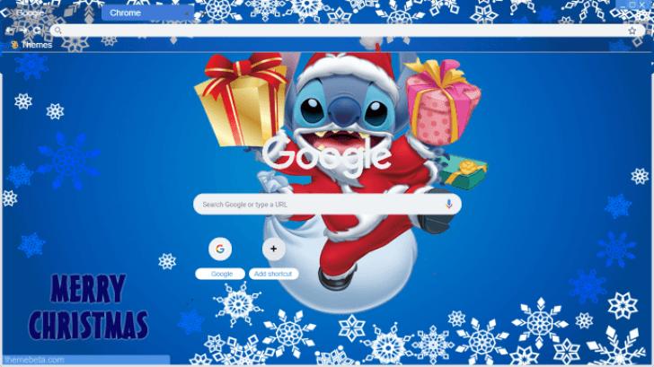Lilo Stitch Merry Christmas Chrome Theme Themebeta