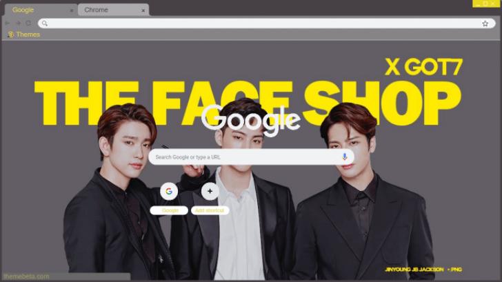 GOT7 X THE FACE SHOP Chrome Theme - ThemeBeta