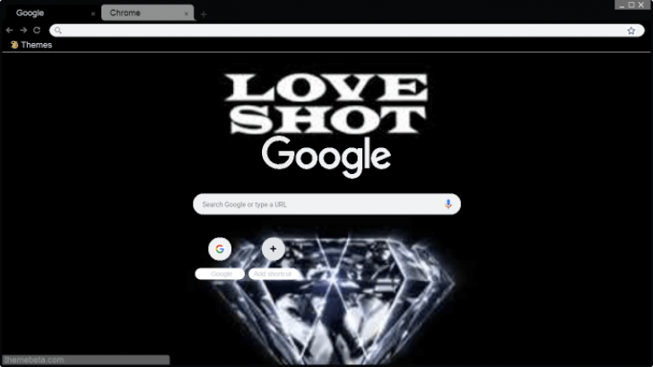 Exo Love Shot Logo Chrome Theme Themebeta