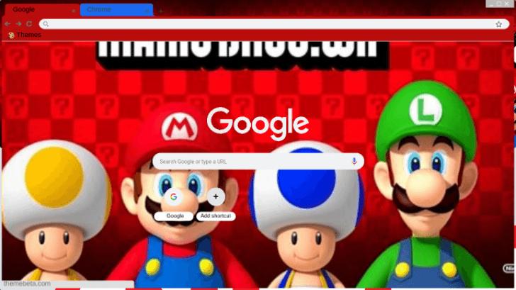 New Super Mario Bros Wii Theme For Google Chrome Chrome