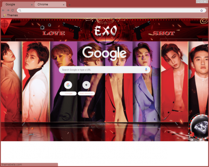 Exo Love Shot Chrome Theme Themebeta