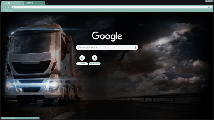 Happy truck driver Chrome Theme - ThemeBeta