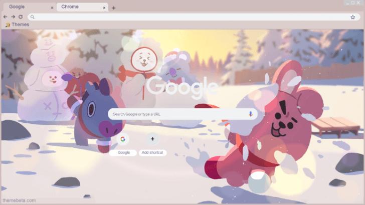 BT21 (Winter) Chrome Theme - ThemeBeta