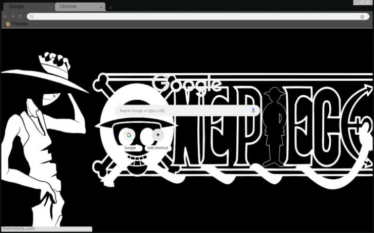 Black White Luffy Chrome Theme Themebeta
