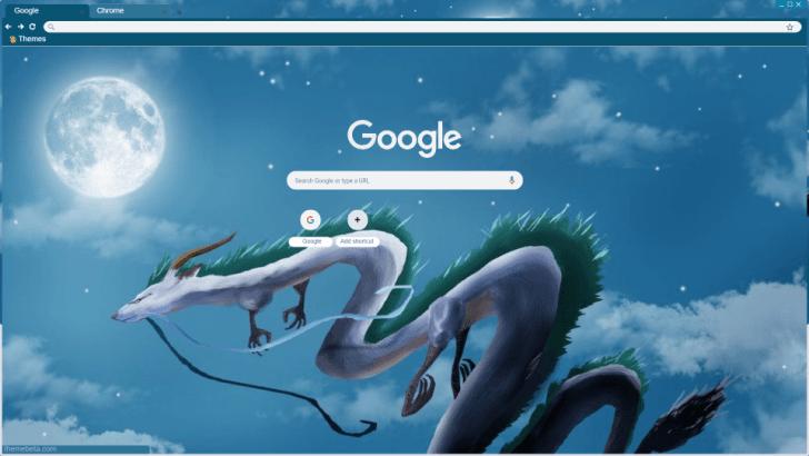 Kohaku River Spirited Away Dragon Chrome Theme Themebeta