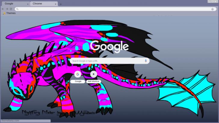 Neon Night Fury Chrome Theme Themebeta