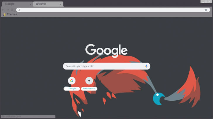 Shiny Zoroark Chrome Theme - ThemeBeta