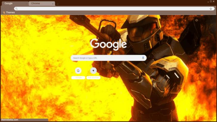 Halo 3 Mark V Armor Background For Chrome Chrome Theme - ThemeBeta