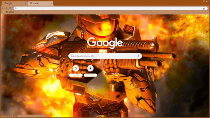 Halo 3 Mark V Armor Chrome Theme - ThemeBeta
