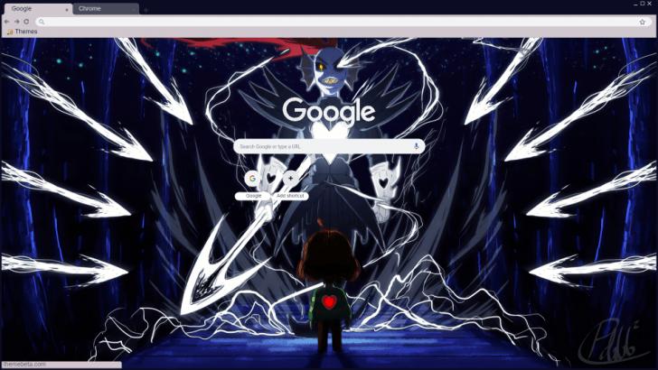 Undertale Undyne the Undying Chrome Theme - ThemeBeta