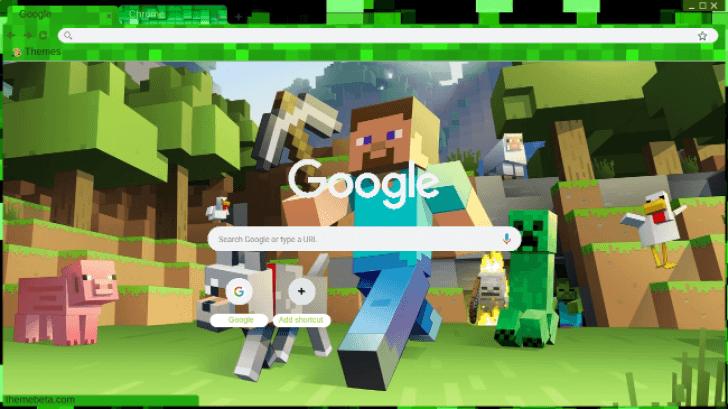Minecraft Theme Chrome Theme - ThemeBeta