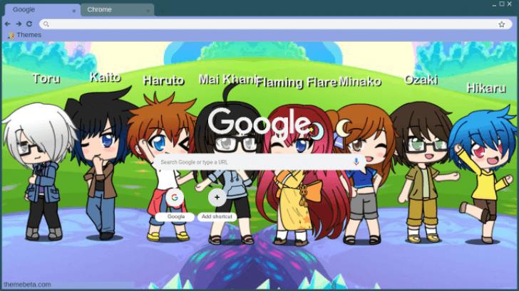 Gacha Life Characters Chrome Theme Themebeta