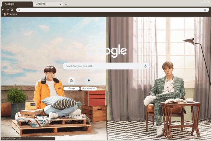 BTS Festa 2019: Jinkook Chrome Theme - ThemeBeta