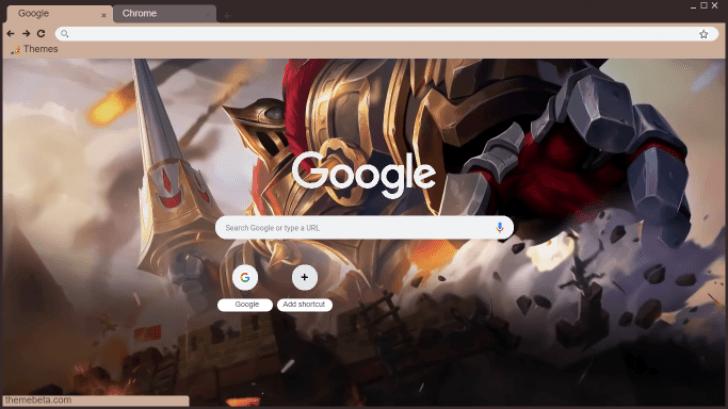 Hd Mobile Legends Grock Castle Guard Chrome Theme Themebeta