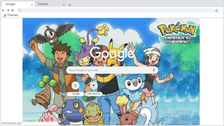 Pokemon Diamond And Pearl Wallpaper Chrome Theme Themebeta