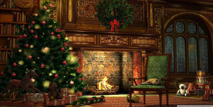 Christmas Hearth.Cozy Christmas Hearth Chrome Theme Themebeta