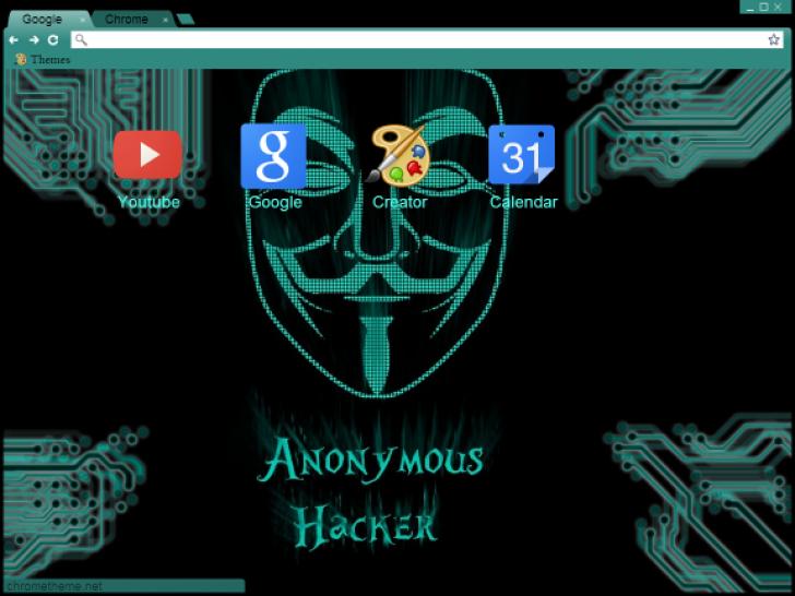 Anonymous hacker Chrome Theme - ThemeBeta