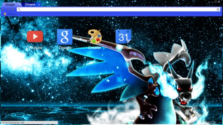 Mega Charizard X Wallpaper Chrome Theme Themebeta