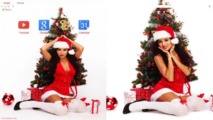Christmas Babes.Christmas Babes Christmas Tree Chrome Theme Themebeta