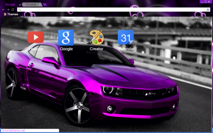 Purple Camaro Theme Chrome Theme Themebeta