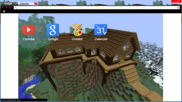 minecraft google chrome theme download