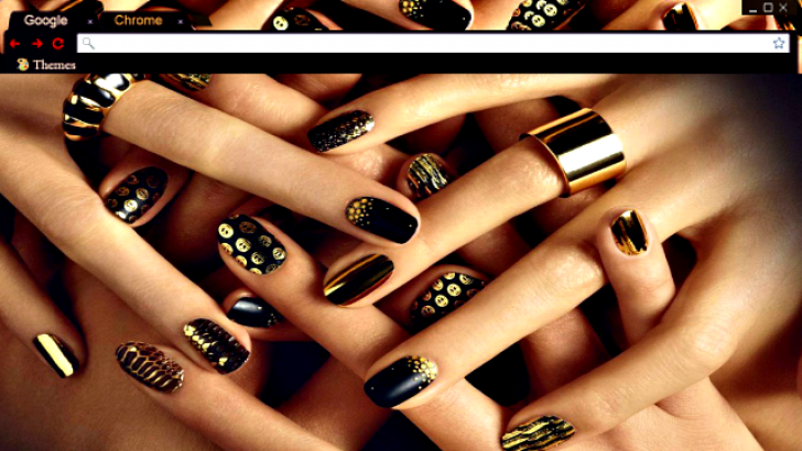 High Fashion Nails Chrome Theme