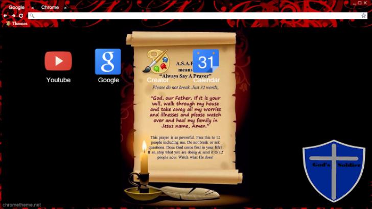 A S A P (Always Say A Prayer) Chrome Theme - ThemeBeta