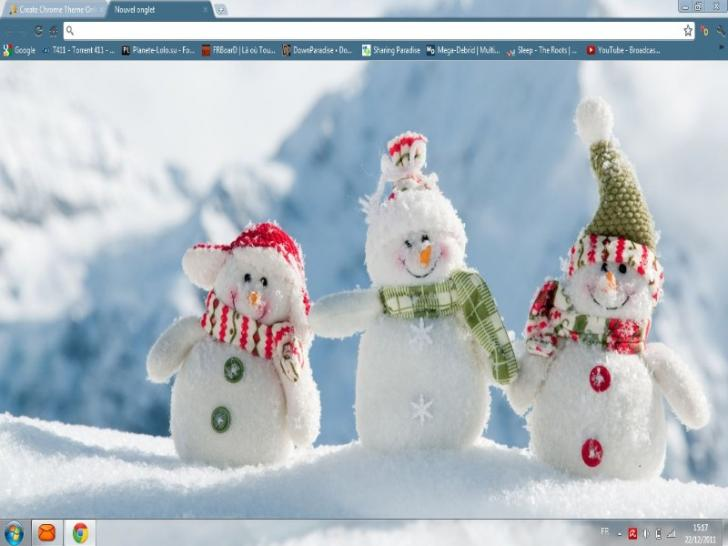 Bonhomme de neige 2 chrome theme themebeta - Winter theme chrome ...
