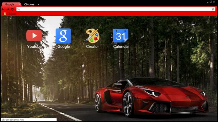 Red Chilled Lamborghini Sesto Elemento Chrome Theme , ThemeBeta