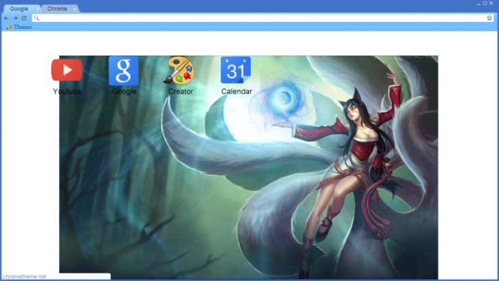 Ahri Google Chrome Theme Chrome Theme - ThemeBeta