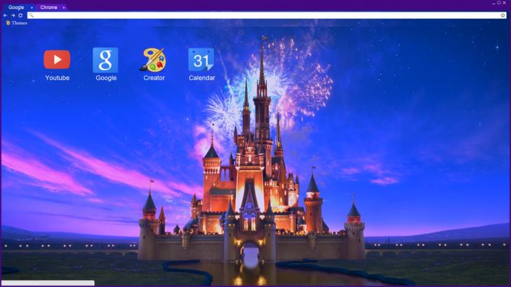 disney magic 1080p chrome theme themebeta