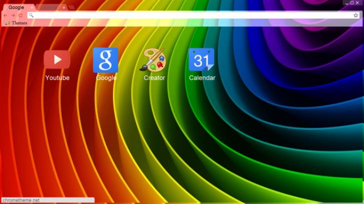 3d rainbow chrome theme themebeta - Winter theme chrome ...