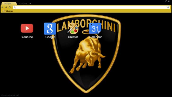 Lamborghini Logo Chrome Theme Themebeta