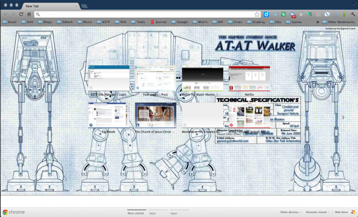 Star Wars At-at Walker Blueprints Chrome Theme