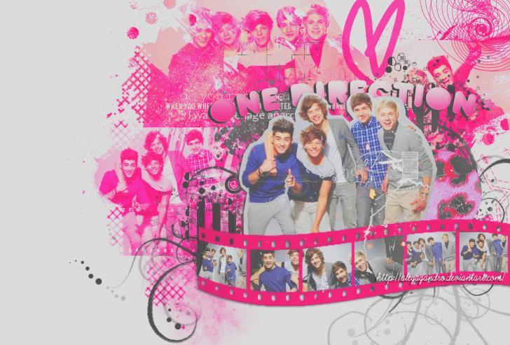 Pink One Direction Chrome Theme - ThemeBeta