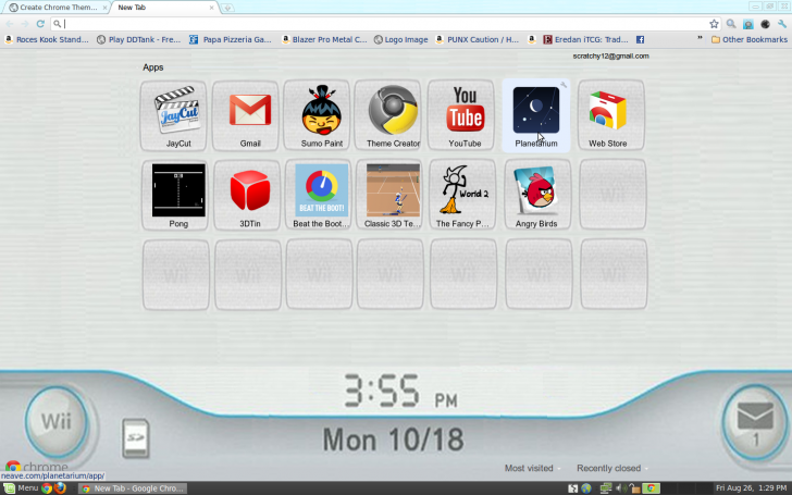 Wii Theme 1 5 Chrome Theme - ThemeBeta